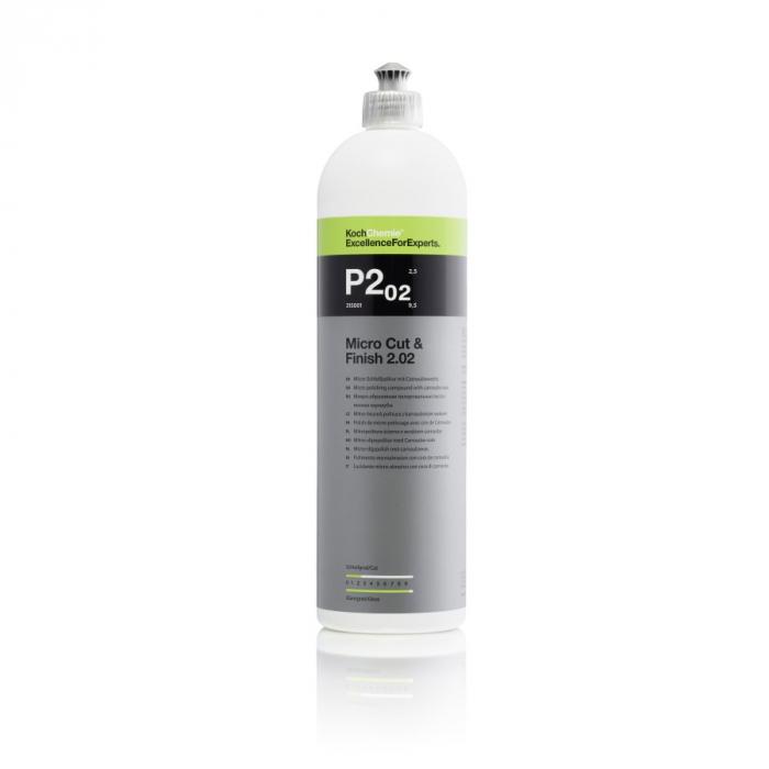 P2.02 - Micro Cut and Finish, polish finish cu ceara carnauba, 1 ltr 0