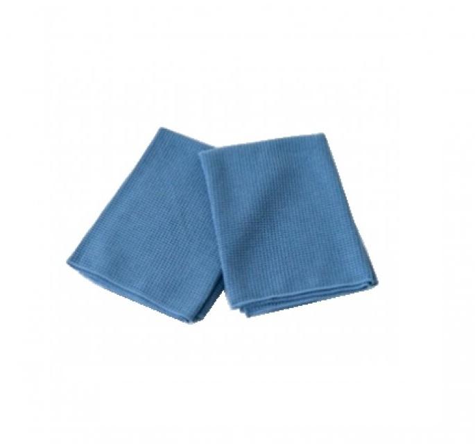 Prosop microfibra gofrat cu absorbtie mare, albastra, 80x55 cm, set 2 buc 0