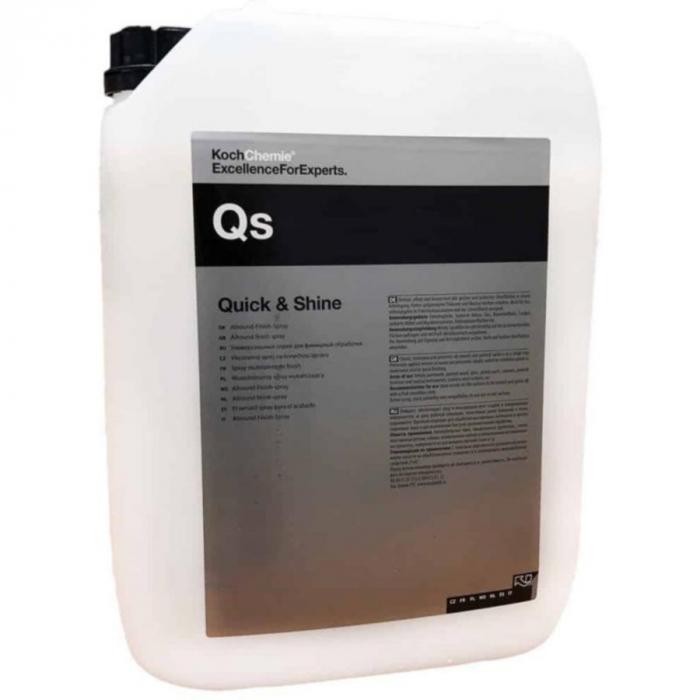 Qs - Quick and Shine, solutie detailing rapid universala cu efect hidrofob, 10 ltr 0
