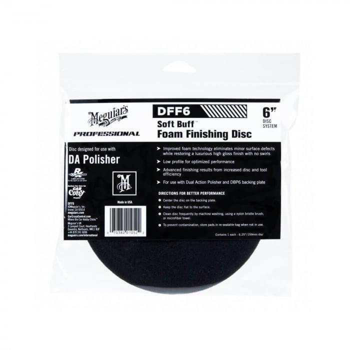DFF6_Meguiars_Soft_Buff_DA_Foam_Finishing_Disc_6_inchi_burete_polish_finish_15.24cm [0]