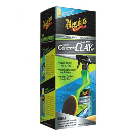 Hybrid Ceramic Quick Clay Kit, kit decontaminare vopsea cu pad argila sintetica0