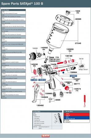 Pistol vopsit Jet 100 B F HVLP, pahar aluminiu 750 ml, QCC1