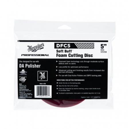 DFC5_Meguiars_Soft_Buff_DA_Foam_Cutting_Disc_5_toli_burete_polish_abraziv_12.7cm [0]