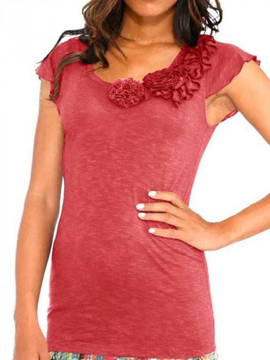 Bluza cu decoratiuni textile 0