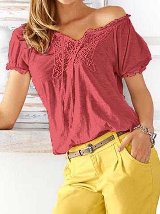Bluza rosie cu broderie 0