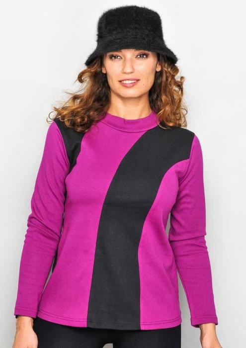 Bluza violet cu maneca lunga 0