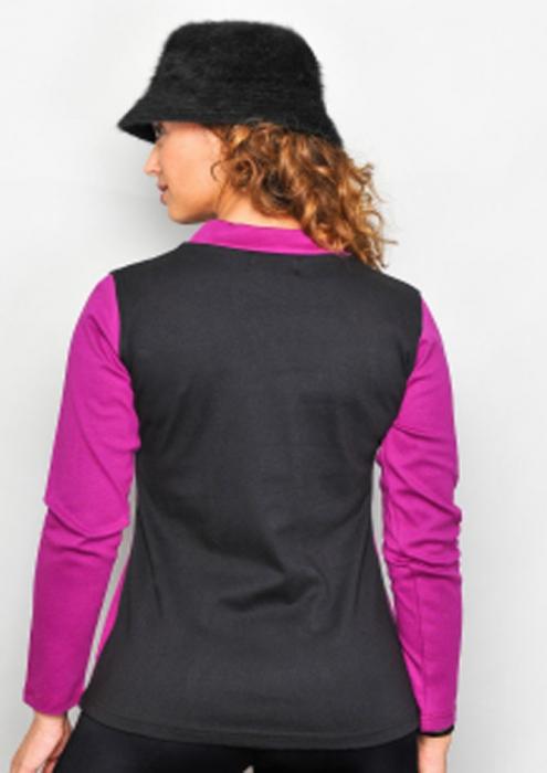 Bluza violet cu maneca lunga 1