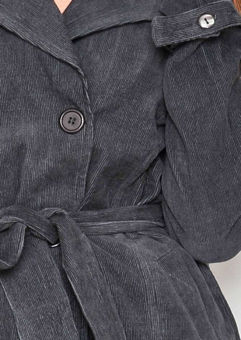 Jacheta neagra lunga femei 2