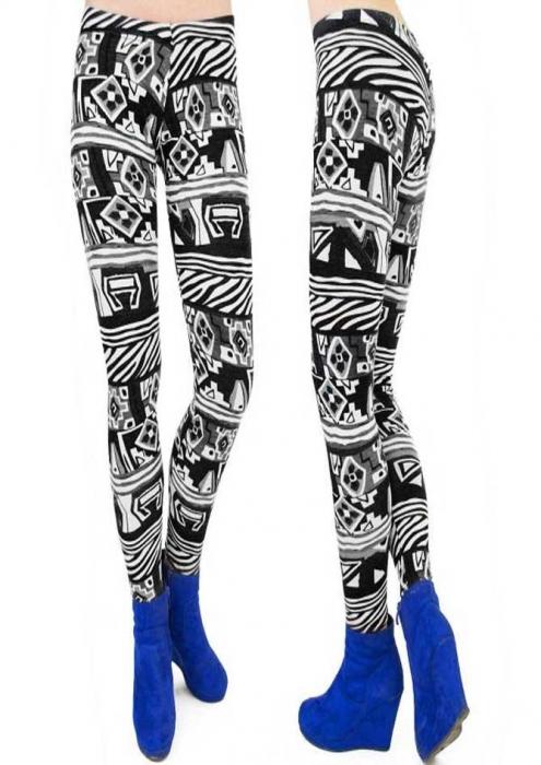 Leggings cu modele geometrice 0