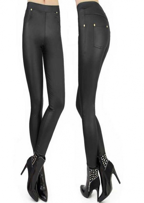 Leggings stil pantalon latex 0