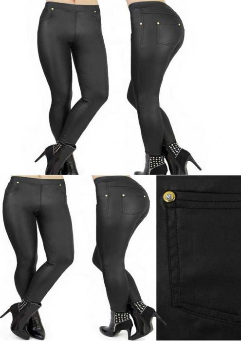 Leggings stil pantalon latex 1