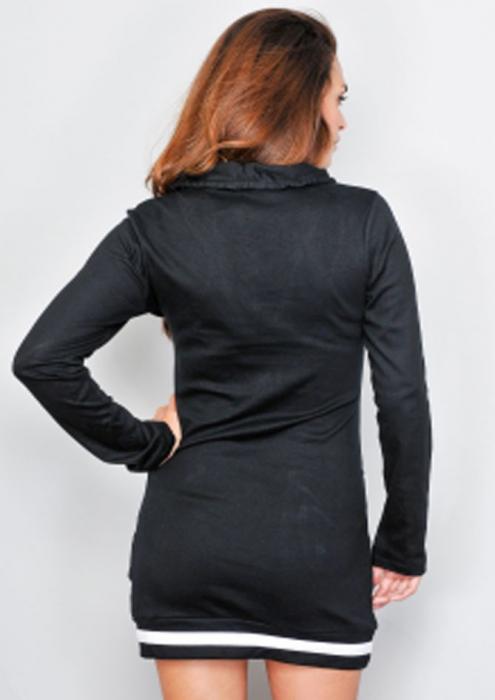 Rochie neagra stil hanorac [1]