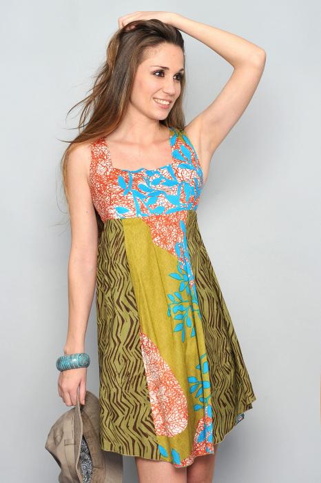 Rochie Green-Rainbow 0