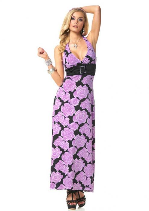Rochie maxi cu trandafiri 0