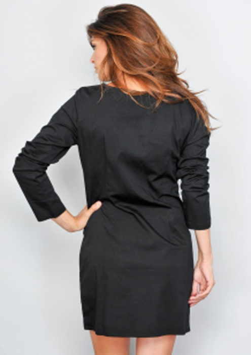 Rochie de toamna negru-galben 1