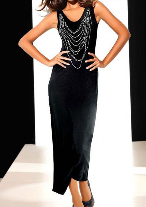 Rochie neagra lunga 0