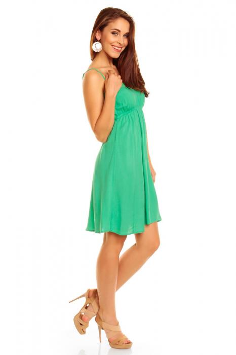 Rochie Stitch Iris Green 2