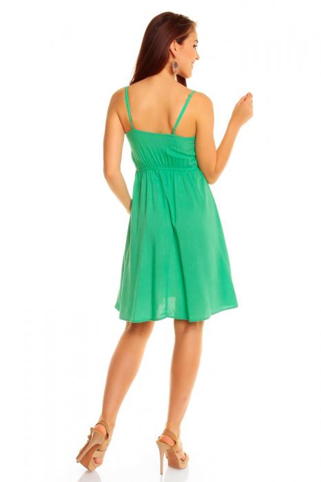 Rochie Stitch Iris Green 1