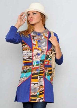 Jacheta lunga albastra dama0