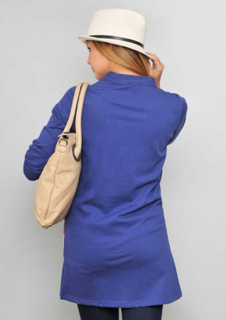 Jacheta lunga albastra dama1