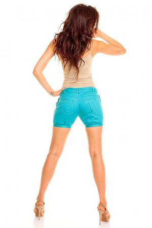 Pantaloni scurti turcoaise [2]
