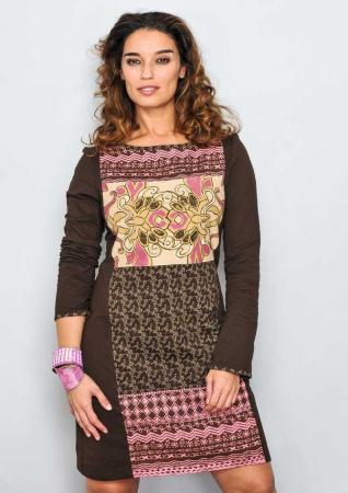 Rochie de toamna cu imprimeuri0