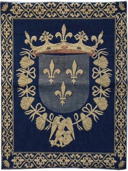 Tapiserie cu blazonul casei regale a Frantei [1]