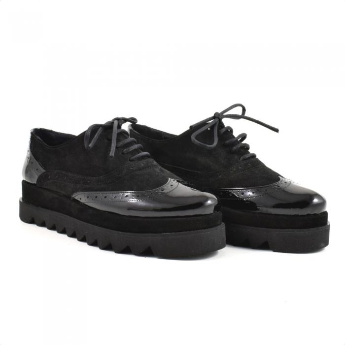 Pantofi din piele naturala Neagra Melinda 2 0