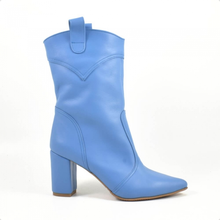 Ghete elegante, piele naturala bleu G 221 1