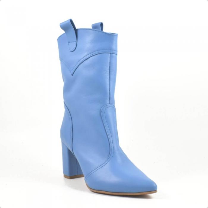 Ghete elegante, piele naturala bleu G 221 2