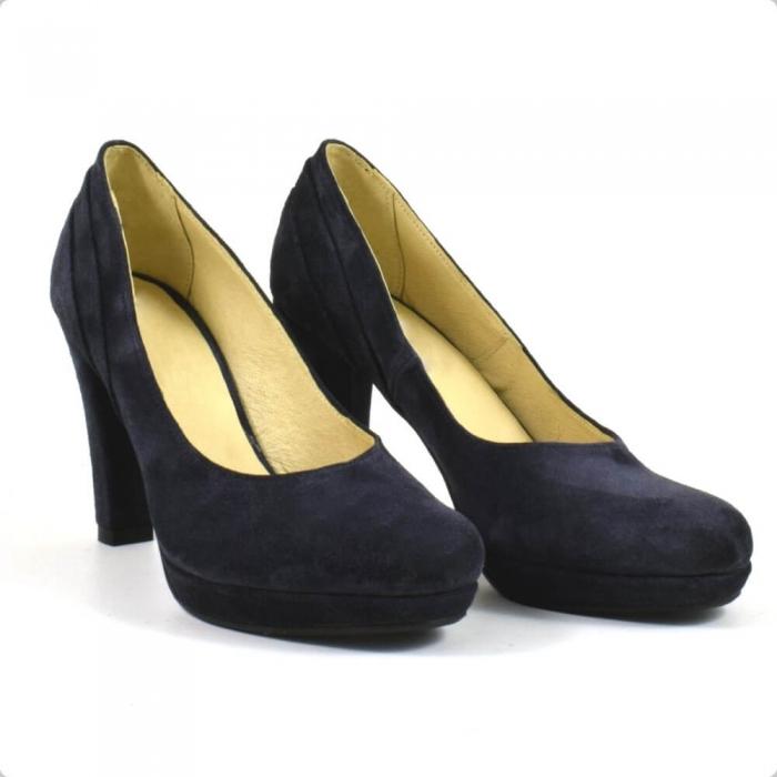 Pantofi din piele intoarsa neagra Mauro (P 210) 0