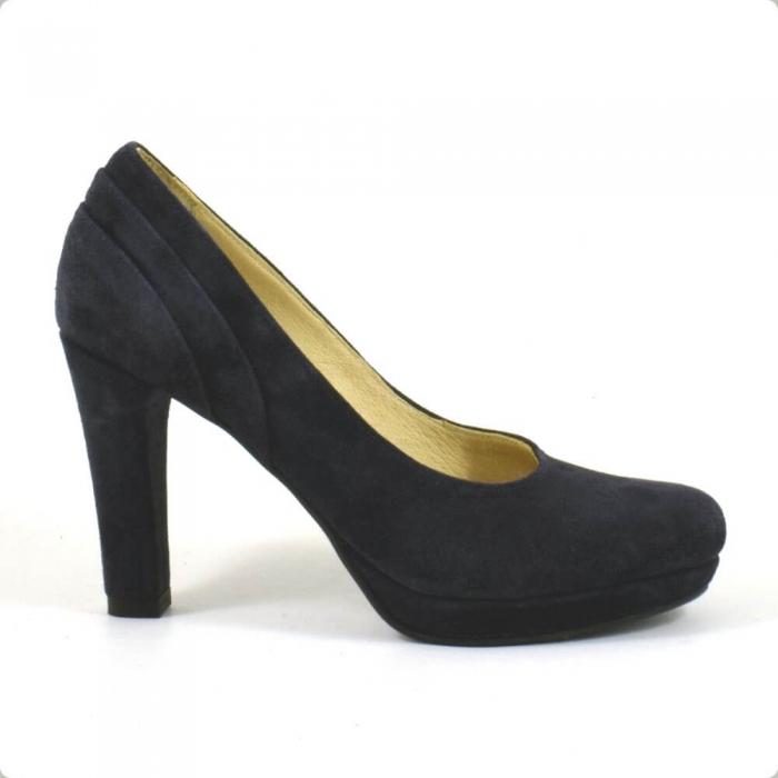 Pantofi din piele intoarsa neagra Mauro (P 210) 1