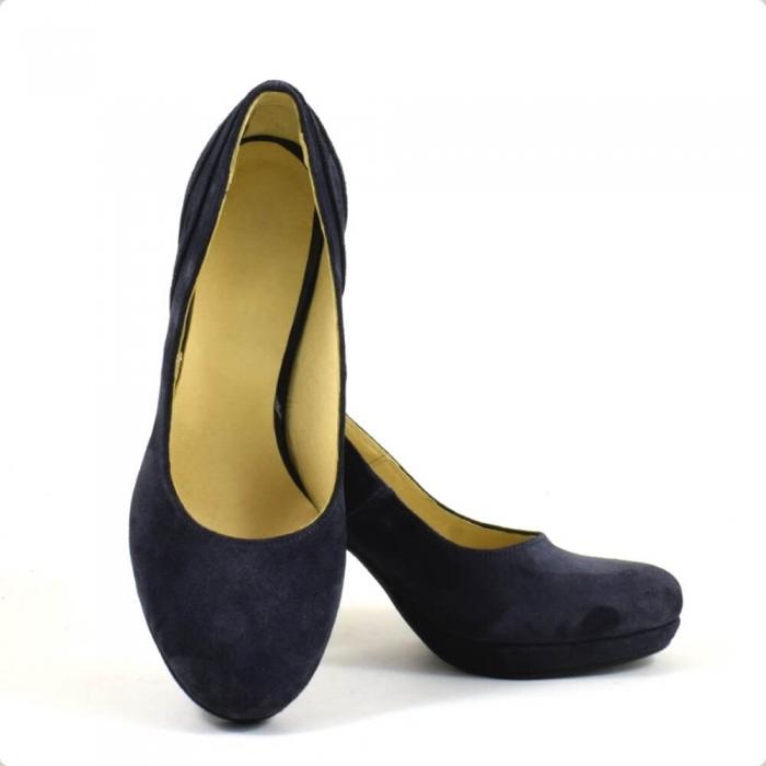 Pantofi din piele intoarsa neagra Mauro (P 210) 3