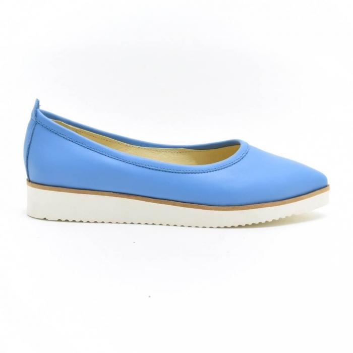 Balerini din piele naturala bleu Maliana 1