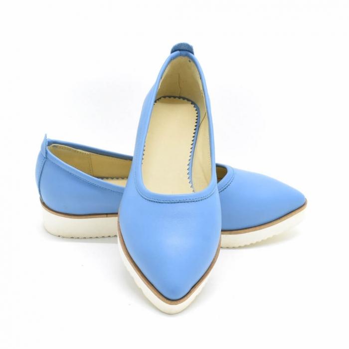 Balerini din piele naturala bleu Maliana 3