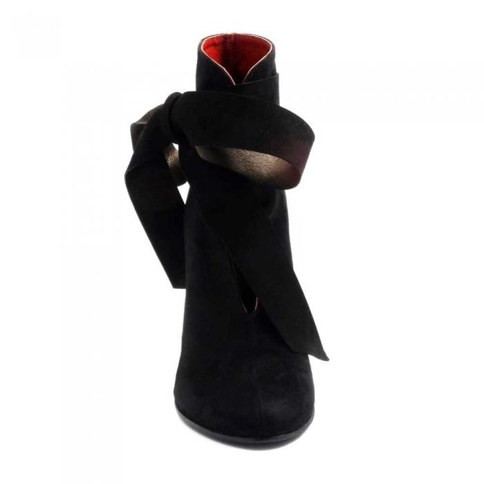 Botine Dama Piele Neagra Sonia - Orice Culoare 2