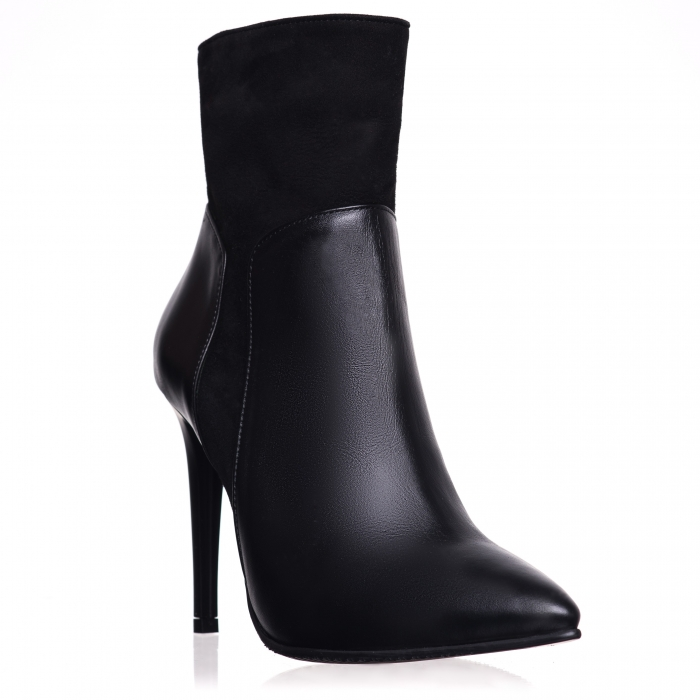 Botine din piele naturala C 08 Black Boots Lovers 0