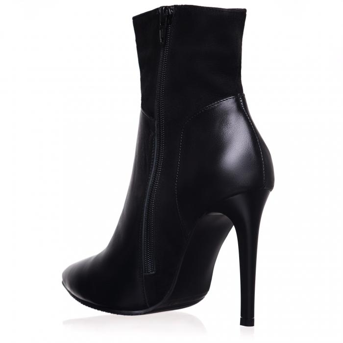 Botine din piele naturala C 08 Black Boots Lovers 1