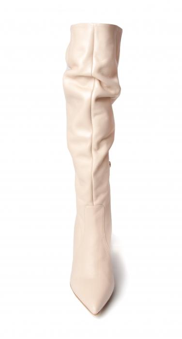 Cizme elegante din piele Box Nude Stylish CZ 07 1