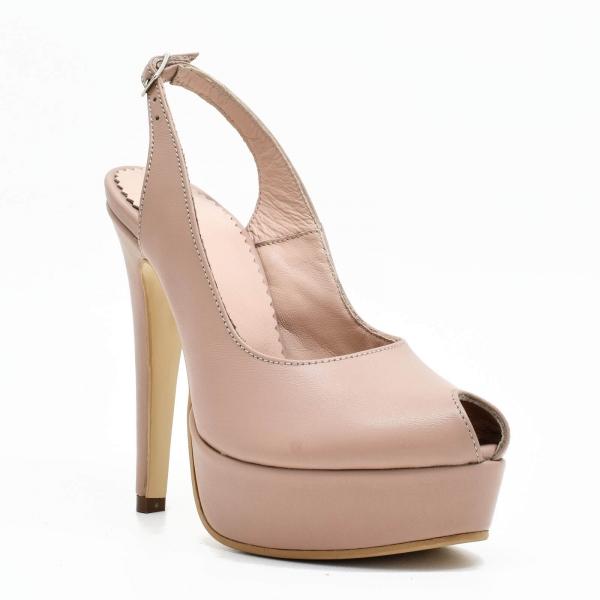 Pantofi din piele naturala Beatrice 2