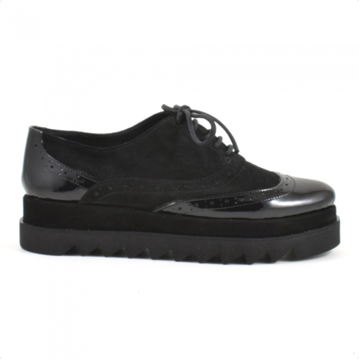 Pantofi din piele naturala Neagra Melinda 2 1