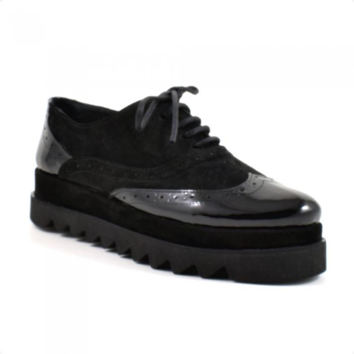 Pantofi din piele naturala Neagra Melinda 2 2