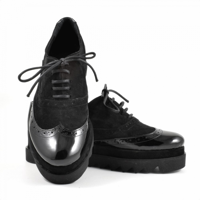 Pantofi din piele naturala Neagra Melinda 2 3