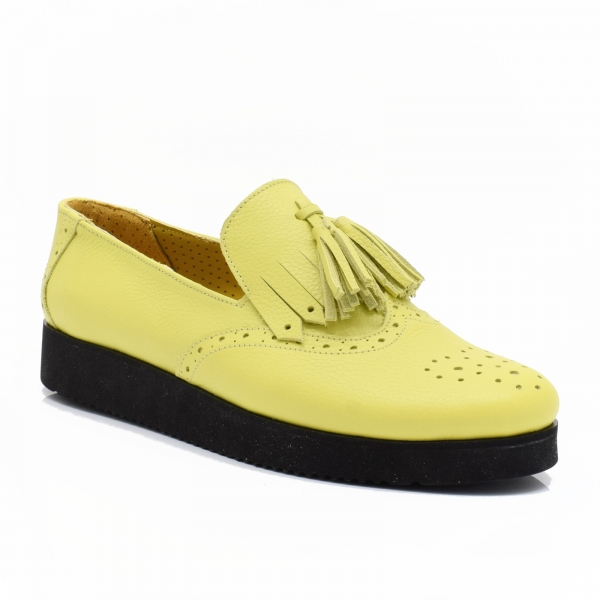 Pantofi galbeni din piele naturala Simonne 2
