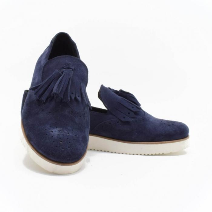 Pantofi din piele naturala Simonne Bleumarin 2