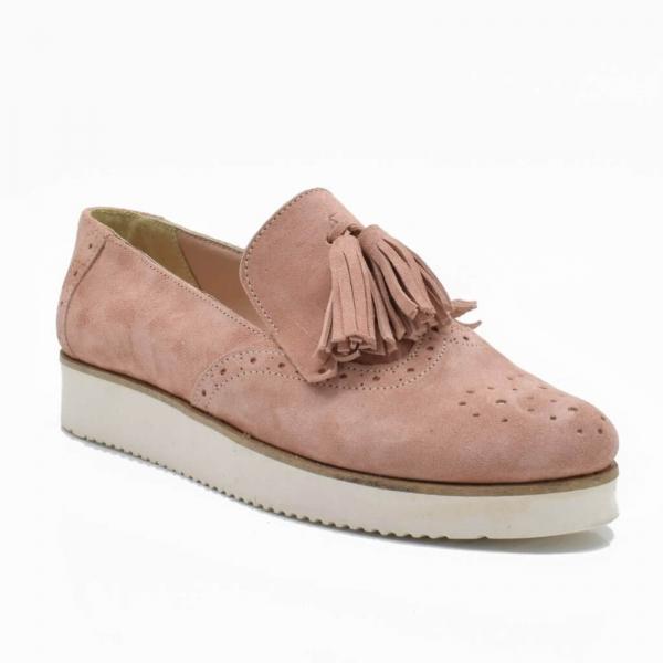Pantofi din piele naturala Simonne Roze 1