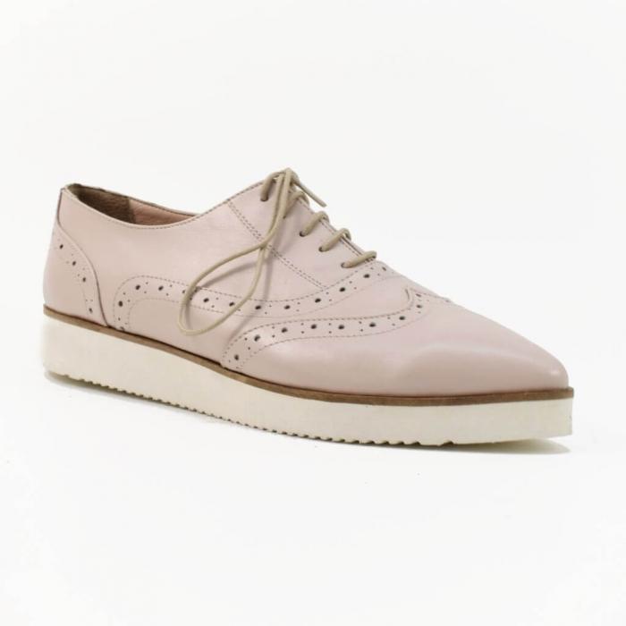 Pantofi din piele nude roze Ariela 2