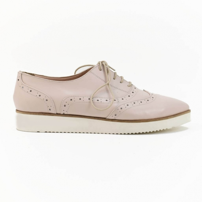 Pantofi din piele nude roze Ariela 1