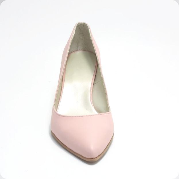 Pantofi stiletto Duo Style din piele naturala roze (M 188) 2