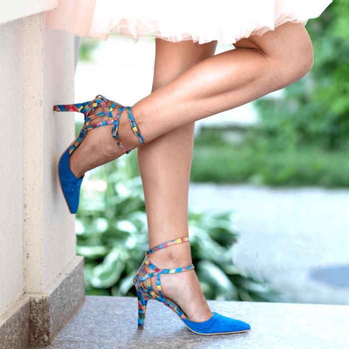 Pantofi Stiletto Blue Joy CZ 09 5